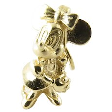 Vintage 14 Karat Yellow Gold Minnie Mouse Charm