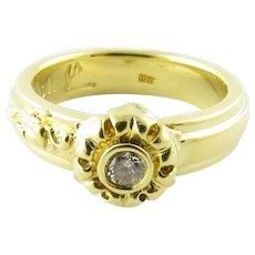 Vintage 18 Karat Yellow Gold and Diamond Ring Size 6.5