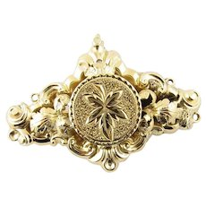 Vintage 14 Karat Yellow Gold Maple Leaf Brooch/Pin