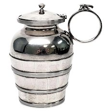 Antique Gorham Sterling Silver Bucket Mustard Pot with Monogram