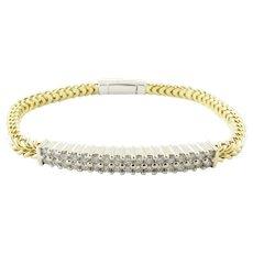 Vintage 18 Karat Yellow Gold and Diamond Bracelet