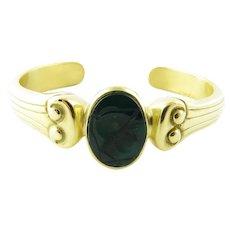 Vintage 18 Karat Yellow and Green Onyx Vahe Naltchayan Bracelet