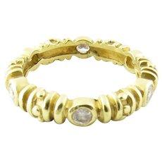 Vintage 22 Karat Yellow Gold and Diamond Ring Size 6.5