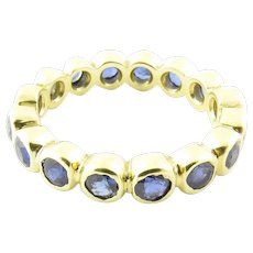 Vintage 18 Karat Yellow Gold and Sapphire Ring Size 6.5
