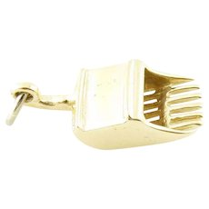 Vintage 14 Karat Yellow Gold Cranberry Scoop Charm