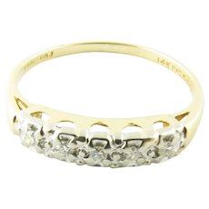 Vintage 14 Karat Yellow Gold Diamond Wedding/Anniversary Band Size 6.25