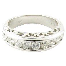 Vintage 14 Karat White Gold Diamond Wedding/Anniversary Ring Size 4.5