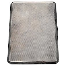 Vintage Asprey & Co Ltd of London Sterling Silver Cigarette Case with Monogram