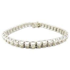 Vintage 14 Karat White Gold Diamond Tennis Bracelet 3.20 ct. twt.