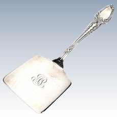 Antique Tiffany & Co Sterling Silver Broom Corn Waffle Server with Monogram
