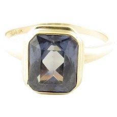 Vintage 10 Karat Yellow Gold Amethyst Ring Size 5