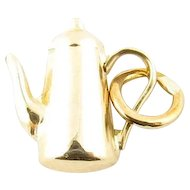 Vintage 14 Karat Yellow Gold Coffee Charm
