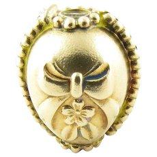 Vintage 14 Karat Yellow Gold Stanhope Lord's Prayer Egg Charm