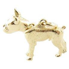 Vintage 14 Karat Yellow Gold Bobble Head Dog Charm