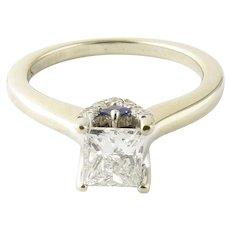Vintage 14 Karat White Gold Princess Cut Diamond Engagement Ring .54 ct. Size 4.25