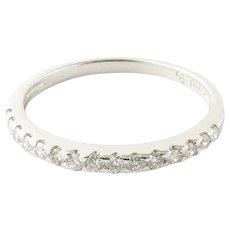 Vintage 18 Karat White Gold Diamond Wedding Band Size 6.5