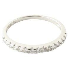 Vintage 18 Karat White Gold Diamond Wedding Band Size 6.25