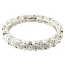 Vintage Platinum Diamond Eternity Band twt. 2.60 ct. Size 7.75