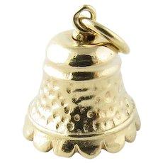 Vintage 14 Karat Yellow Gold Bell Charm
