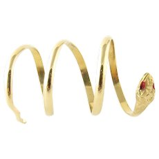 Vintage 18 Karat Yellow Gold Snake ring Size 6