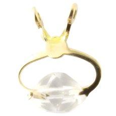 Vintage 14 Karat Yellow Gold Ice Block Charm