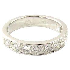 Vintage 14 Karat White Gold Diamond Wedding Band Size 4.5