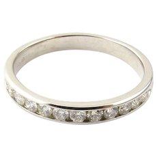 Vintage 14 Karat White Gold Diamond Wedding Band Size 9