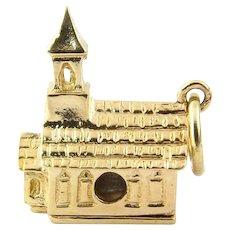 Vintage 14 Karat Yellow Gold Charm Chapel Charm