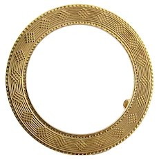 Vintage 14 Karat Yellow Gold Tiffany & Co. Circle Brooch/Pin