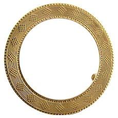 Vintage 14 Karat Yellow Gold Tiffany & Co. Circle Brooch/Pin