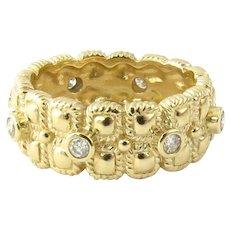 Vintage 14 Karat Yellow Gold and Diamond Wedding Band Size 5.5