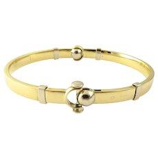 Vintage 18 Karat Yellow Gold Bangle Bracelet