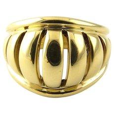 Vintage 18 Karat Yellow Gold Movado Dome Ring