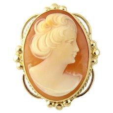 Vintage 14 Karat Yellow Gold Cameo Brooch/Pendant