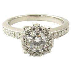 Vintage Platinum Diamond Engagement Ring Size 7