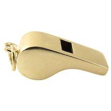 Vintage 14 Karat Yellow Gold Whistle Charm