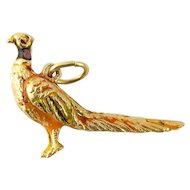 Vintage 14 Karat Yellow Gold Pheasant Charm