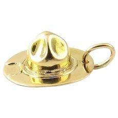 Vintage 10 Karat Yellow Gold Forest Ranger Hat Charm
