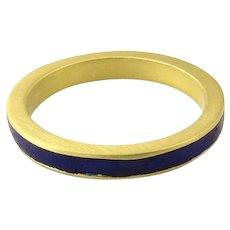 Vintage Gucci 18 Karat Yellow Gold and Enamel Ring Size 4.5