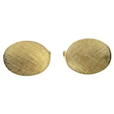 Vintage Cartier 14 Karat Yellow Gold Cufflinks