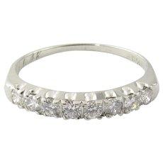 Vintage Platinum Diamond Wedding Band Size 6.25