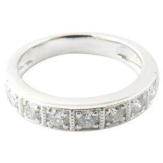 Vintage 18 Karat White Gold Diamond Wedding Band Size 6