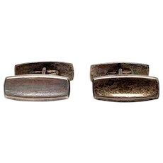 Vintage Hermann Siersbol Small Sterling Silver Cuff Links Denmark