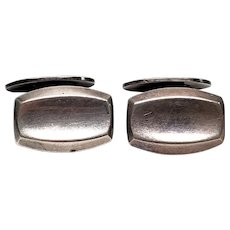 Vintage Hermann Siersbol Large Sterling Silver Cuff Links Denmark