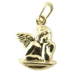 Vintage 14 Karat Yellow Gold Guardian Angel Charm