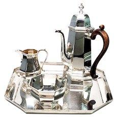 Vintage Asprey & Co Ltd of London Sterling Silver 4 piece Coffee/Tea Set