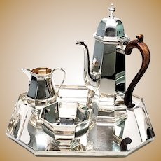 Vintage Asprey & Co Ltd of London Sterling Silver 4 piece Coffee/Tea Set