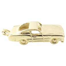 Vintage 14 Karat Yellow Gold Car Charm