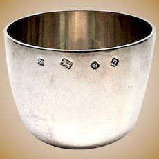 Vintage Asprey & Co Ltd of London Sterling Silver Tumble Cup