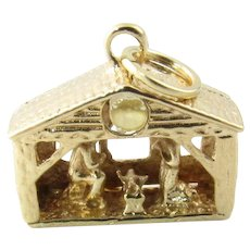 Vintage 14 Karat Yellow Gold Nativity Charm